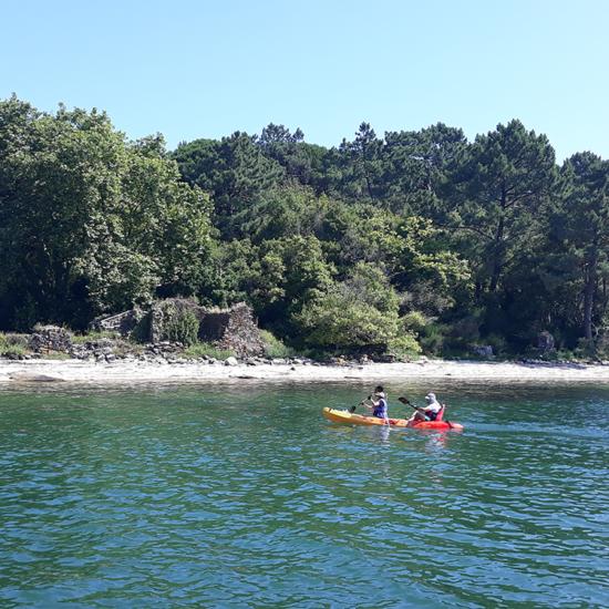 kayak en Cortegada Carril